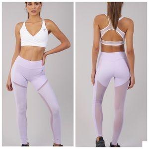 Gymshark Simply Mesh Legging Pastel Lilac Size S